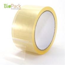 Cinta de embalaje transparente compostable de película adhesiva personalizada