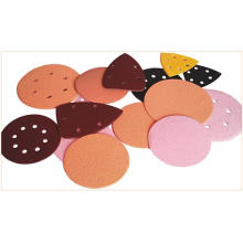 Hook and Loop Backed Abrasives and Abrasives with Cloth