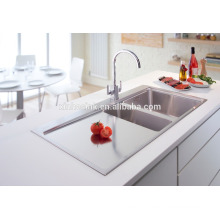 Inset Stainless Steel Topmount Handmade Kitchen Sink with Drainer