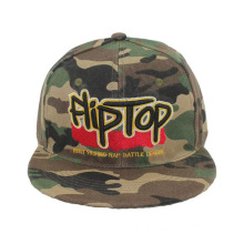 Camo Snapback Cap with 3D Embroidery Logo (GKA15-F00044)