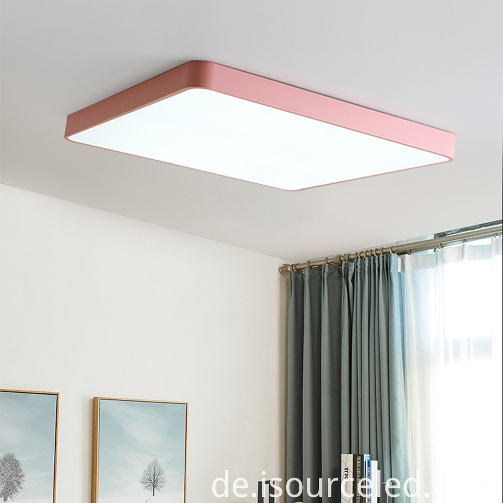led colour changing ceiling flush light with remote control
