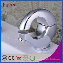 Fyeer Creative O-Shape Chrome Plated Brass Wash Basin Faucet Hot&Cold Water Mixer Tap Wasserhahn
