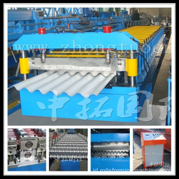 Sheet bergelombang Roll Forming Machine