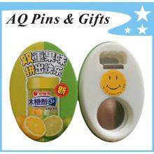 Insignia de botones de hojalata para abridor de botellas (botón badge-52)