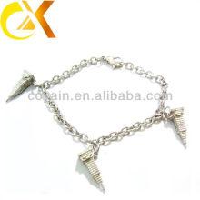 Pulseira de jóias de aço inoxidável com pingente de fundição