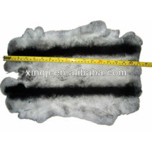 Dyed chinchila color top quality rex rabbit skin