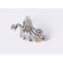 Fashion Jewelry Peacock Ring with Rhinestones