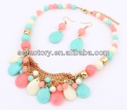 New Spring Acrylic Drop Beads Jewelry Set for girl