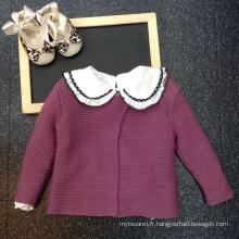 Usine machine tricoté pulls en laine conception filles enfants vêtements pour vêtements d'école d'hiver pour les enfants conçoit en gros