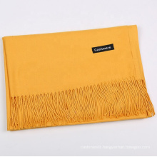 Hot selling Christmas gift Blank color custom design scarf winter pure cashmere wholesale scarf hijab