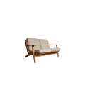 Contemporary Wooden Frame Fabric 2-Seater Lounge Sofa