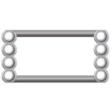 Liga de zinco fivela quadrada para vestuário-20820