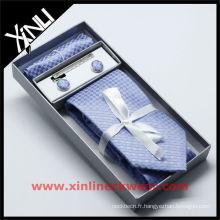 Boîte de rangement cravate en soie avec pochette à cravate