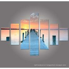 Imagens do por do sol decorativas da parede, arte do grupo