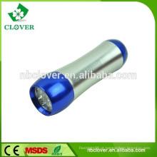 Material de alumínio portátil lanterna 9 levou mini levou luz da tocha