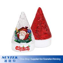 New Arrival Sublimation Christmas Hat Red Sequin Santa Hat Wholesale