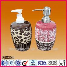 Botellas de leche esmaltadas a granel modificadas para requisitos particulares del baño del logotipo, botella de perfume de cerámica