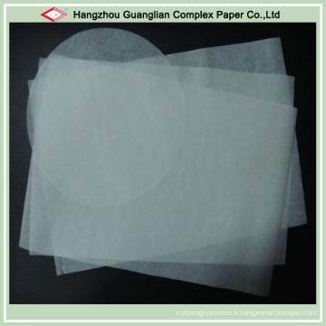 Papier de cuisson antiadhésif de taille d'OEM avec le revêtement de silicone