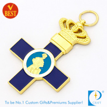High Quality Cheap Metal Cross Keychain with 2D Design