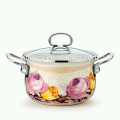 enamel big body pot soup & stock pot enamel cooking pot which have high-capacity