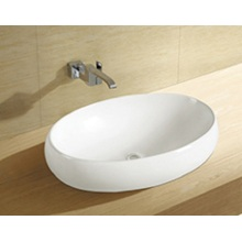 Sanitary Ware Countertop Bathroom Oval Art Basin