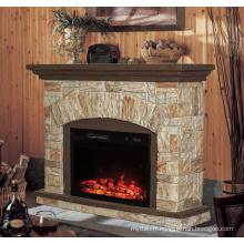 Foyer électrique insert classique avec manteau en polystyrène