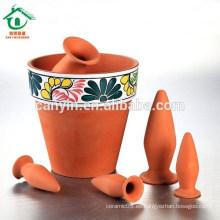 Olla de cerámica antigua para la decoración del jardín Olla de cerámica