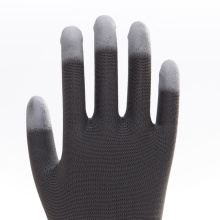 Cotton PU Labor Gloves with CE EN388