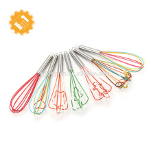 FDA LFGB Approved Mini Baking Tools 7pcs Silicone Egg Whisk for Promotion