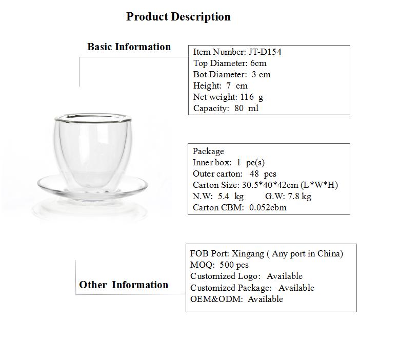 Glass Coffee Cup Set