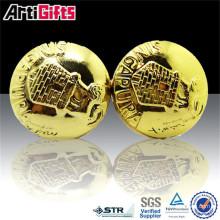 Изготовленный на заказ Логос качество металла нержавеющей кожаный запонки