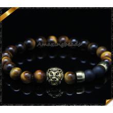 Ojo de tigre amor famoso pulseras de la marca de fábrica y brazaletes Natural pulsera de piedra natural para la joyería de los hombres de las mujeres (CB0103)