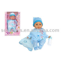 906031565 boy doll, lovely doll with baby face, 15 inch suck doll