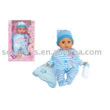 906031565 boneca menino, linda boneca com cara de bebê, 15 polegadas chupar boneca