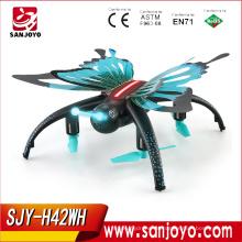 JJRC H42WH Butterfly-like Quadcopter con 0.3mp wifi Cámara Altitude Hold Control de voz sin cabeza modo PK H37 Mini SJY-H42WH