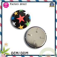Colorful Star Picture Round Iron Badge