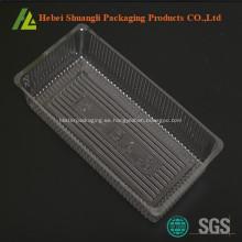 Bandejas plásticas transparentes de la galleta de la categoría alimenticia