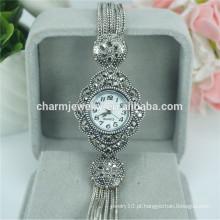 Moda elegante novo senhoras relógio de pulso de quartzo de luxo para as mulheres B029