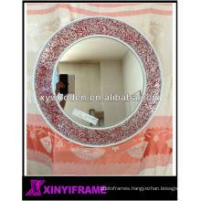 New Design Modern Wooden Glass Mosaic Frame Mirror