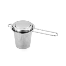 Stainless steel cup shaped tea strainer
