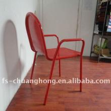 Red Steel Armrest Chair Мебель, используемая в отеле (YC-ZG001)