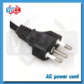 Certified 3 pin brazil 120v power cord plug