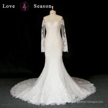 XW6692 O-pescoço mangas compridas mãe da noiva vestido de casamento xangai vestido de moda vestidos