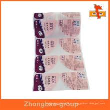 Гуанчжоу производитель оптовая печать и упаковочные материалы на заказ печатных горячего расплава клея этикетка