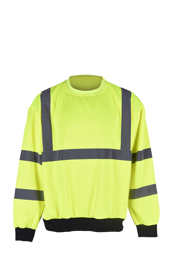 High visibility cheap  fleece safety sweatshirt