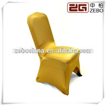Top Sale Customized Golden Spandex Chair Covers for Weddings Guangzhou