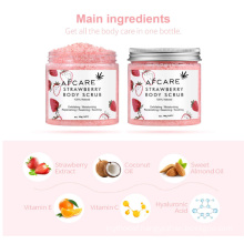 Free Sample Exfoliating Natural OEM ODM Face Scrub Body Strawberry Scrub