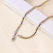 Tri-Color Gold Plated Necklace
