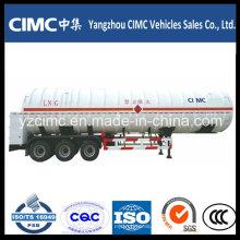 Semirremolque del tanque de transporte del LNG de 56000L