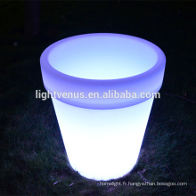 BSCI approbation LED Flower pot/E27plastic LED planteur pot/bon marché pots de fleurs